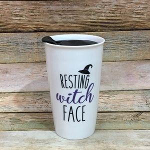 NWOT Resting Witch Face Tumbler